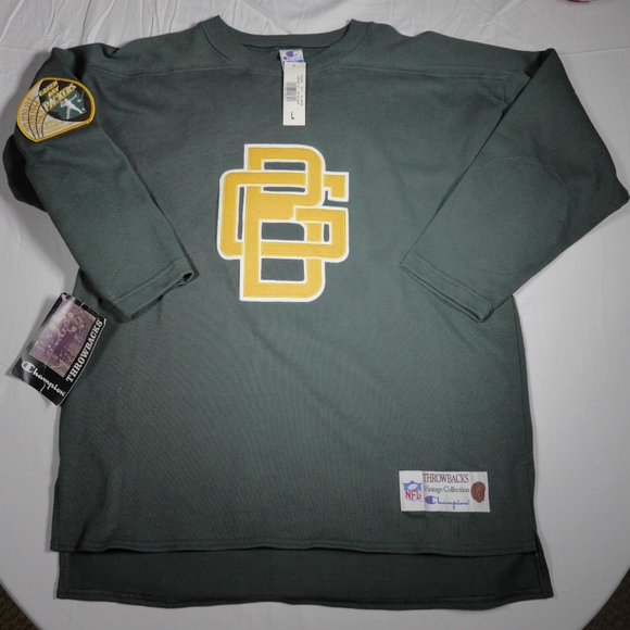 Green Bay Packers Throwback NFL Jersey Sweater NWT